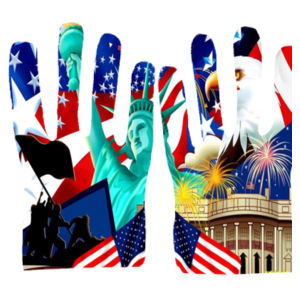 Land of the free Gloves Design